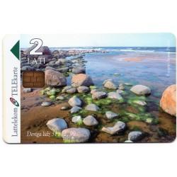 Latvian prepaid calling card Lattelekom TELEkarte 2 Lati