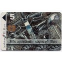 Latvian prepaid calling card Lattelekom TELEkarte 5 Lati