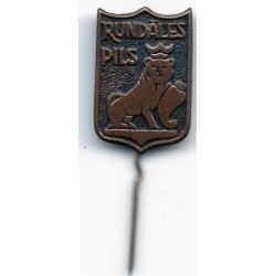 The Latvian soviet stick pin Rundāles Pils