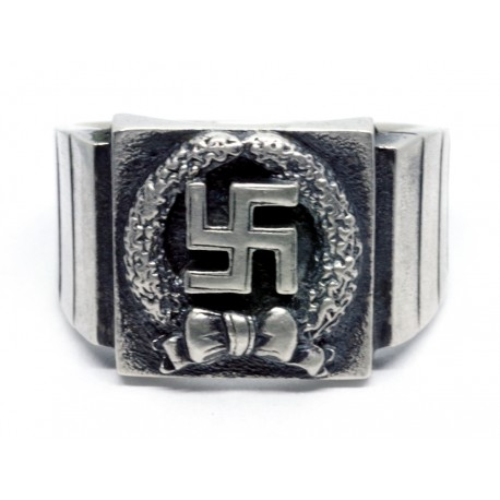 Honor Roll Clasp of the Army silver ring