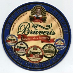 Latvian beer coaster - Brūveris