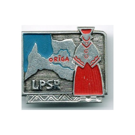 Latvian soviet stick pin LPSR