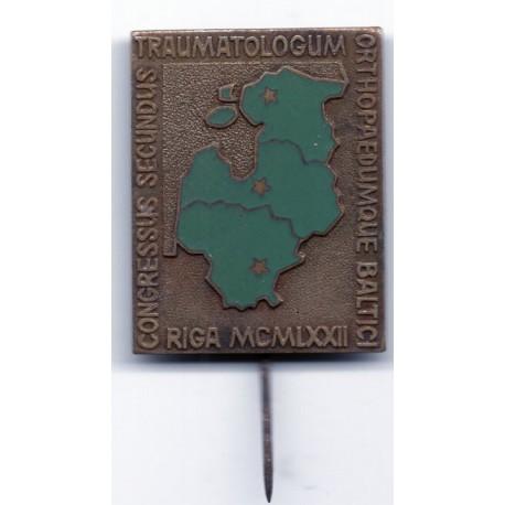 Latvian soviet stick pin Rīga MCMLXXII