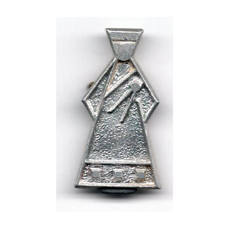 Latvian soviet stick pin as nations subsidiary silhouette