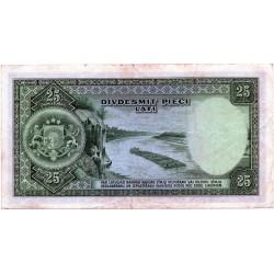 Latvia 25 Latu 1938 VF CRISP Banknote P-21