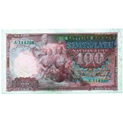 Latvia 100 Latu 1939 VF CRISP Banknote P-22