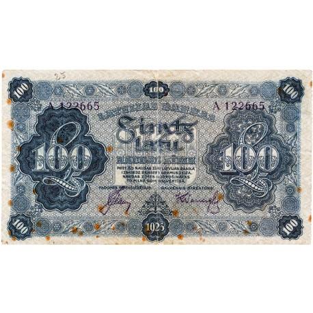 Latvia 100 Latu 1923 VF CRISP Banknote P-14b