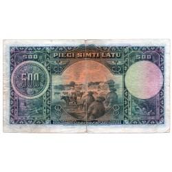 Latvia 500 Latu 1929 VF CRISP Banknote P-19a