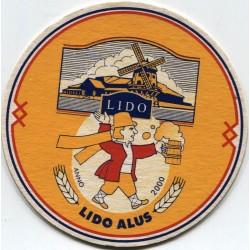 Latvian beer coaster Lido alus