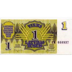 Latvia 1 Rublis 1992 VF CRISP Banknote P-35