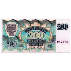 Latvia 200 Rublu 1992 VF CRISP Banknote P-41