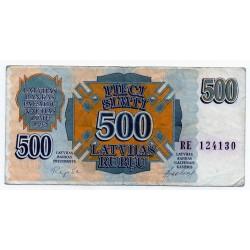 Latvia 500 Rublu 1992 VF CRISP Banknote P-42
