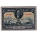 Latvia 25 Lati 1928 VF CRISP Banknote P-18