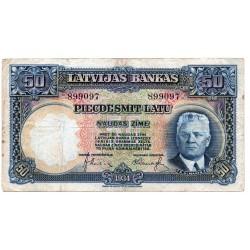 Latvia 50 Latu 1934 VF CRISP Banknote P-20