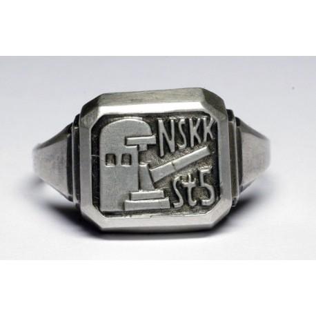 WWII German (N.S.K.K.) coastal cannons Silver Ring