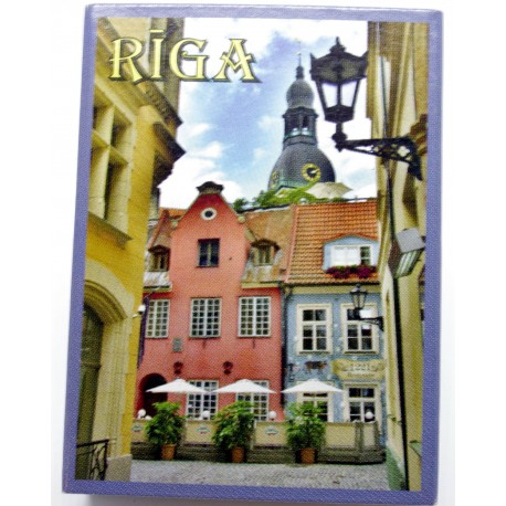 Latvian Matchbox -series of Riga view