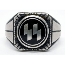 Silver German Waffen SS Ring