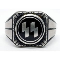 Silver German Waffen Units Ring