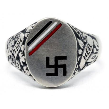 German WWII  Patriotic Enameled Ring