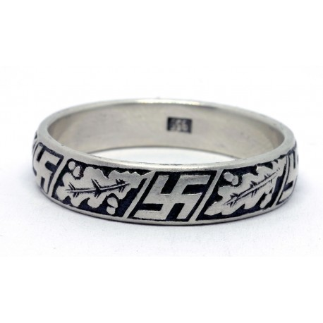 WW2 swastika wedding ring
