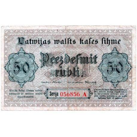 Latvia 50 Rubli from 1919 P 6