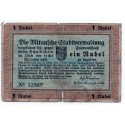 Latvia 1 Ruble 1915  Banknote -Mitau