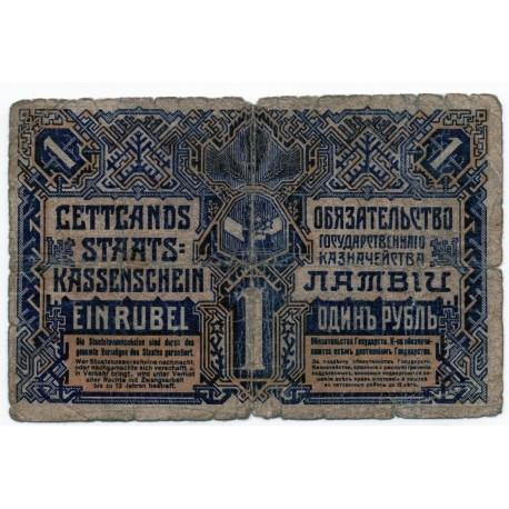Latvia 1 RUBLIS 1919  Banknote P-1
