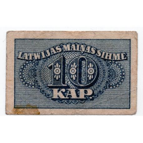 Latvia 10 KAPEIKAS from 1920 Banknote P- 10a