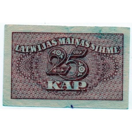 Latvia 25 KAPEIKAS from  1920 Banknote P- 11a