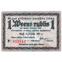 Latvia 1 Rublis from  1919 Banknote