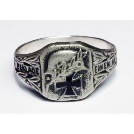 WW II GERMAN officer`s SILVER RING