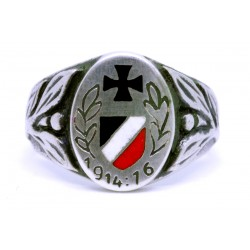 German WW1 Iron Cross Imperial 1914 1916 Silver Ring