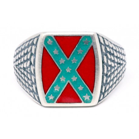 Confederate Rebel  Flag Ring