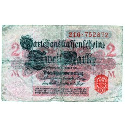 GERMANY  2 MARK from 1914 P-54