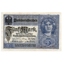 GERMANY  5 MARK from 1917 P-56a