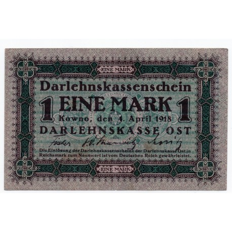 GERMANY  1 MARK from 1918 P-R128