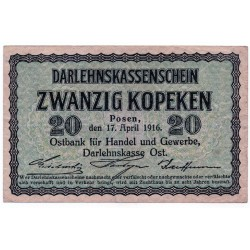 GERMANY  20 KOPEKS from 1916 P-R120