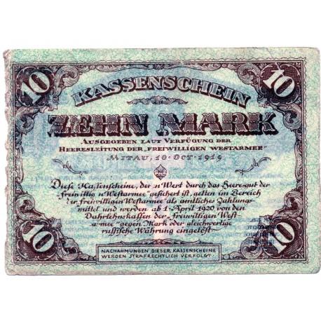 GERMANY  10 MARK from 1919 ,Mitau