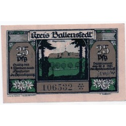 GERMANY  Ballenstedt am Harz 25 Pfennig