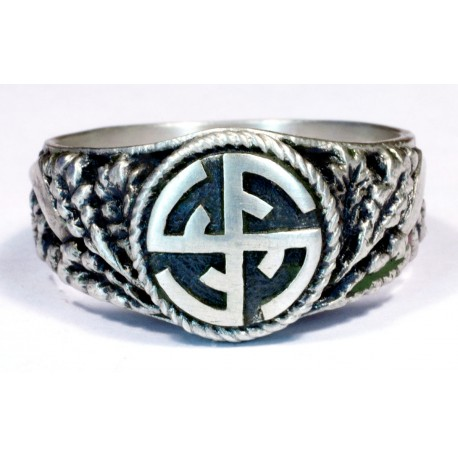 Solid Silver Germanic deutscher turnerbund ring
