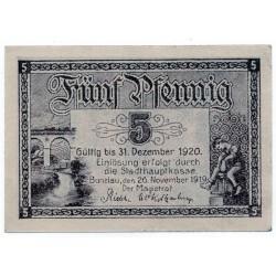 GERMANY  Notgeld BUNZLAU 1920 5 Pfennig