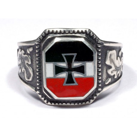 German WW II Silver Volunteer Ring