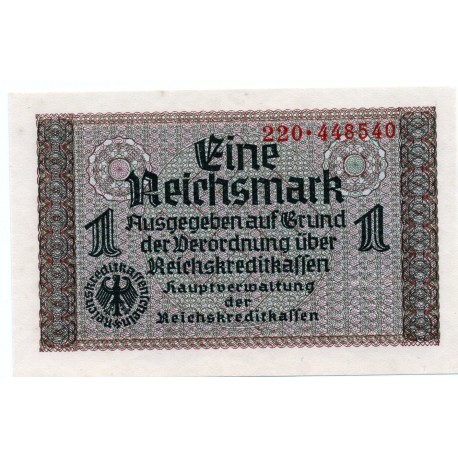 GERMANY  1 REICHSMARK  from 1940 P-R136a