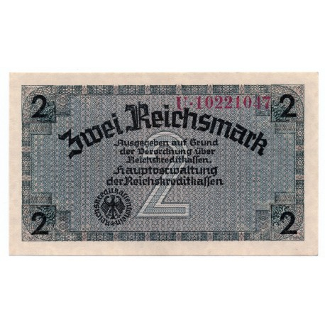 GERMANY  2 REICHSMARK  from 1940 P-R137b