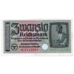 GERMANY  20 REICHSMARK  from 1940 P-R139