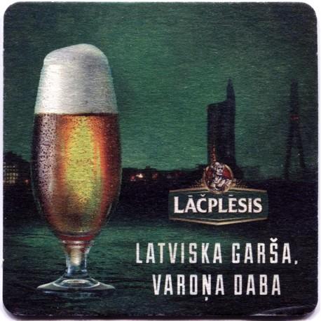 Latvian beer coaster Lāčplēsis