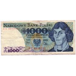 POLAND 1000 ZLOTY  FROM 1982