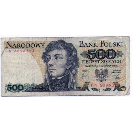 POLAND 500 ZLOTY  FROM 1982