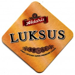 Latvian beer coaster Aldaris LUKSUS