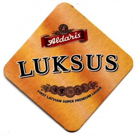 Latvian beer coaster Aldaris LUKSUS